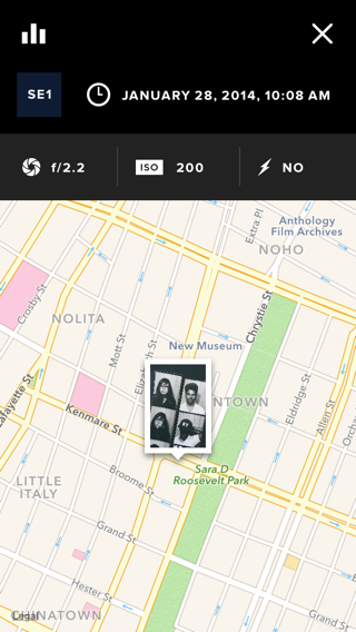 VSCO iPhone maps screenshot