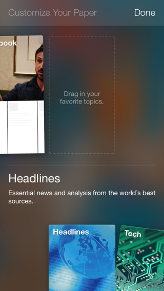 Facebook Paper iPhone walkthroughs screenshot