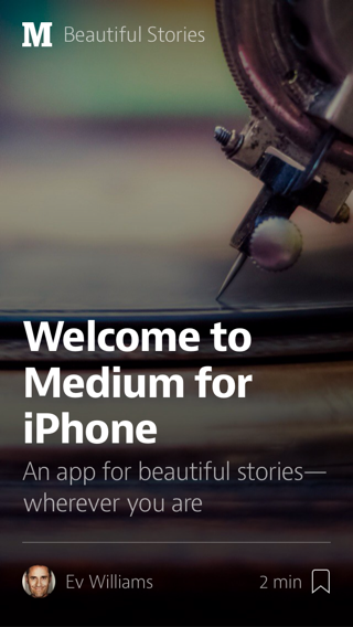 Medium iPhone home screenshot