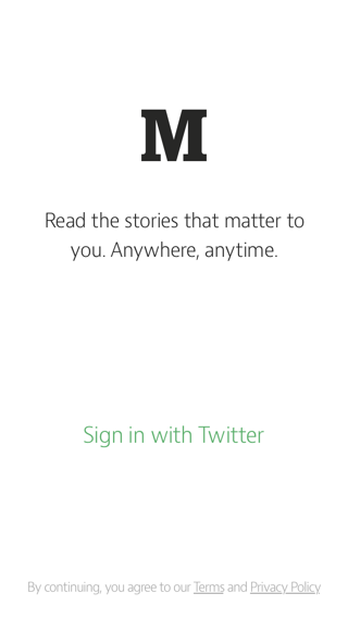 Medium iPhone sign up flows screenshot