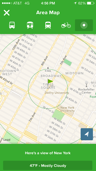 Citymapper iPhone maps screenshot