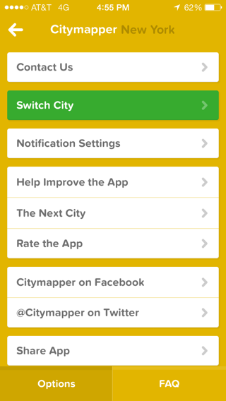 Citymapper iPhone  screenshot