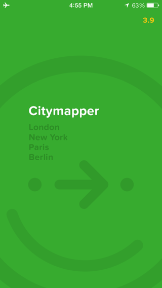Citymapper iPhone onboarding screenshot