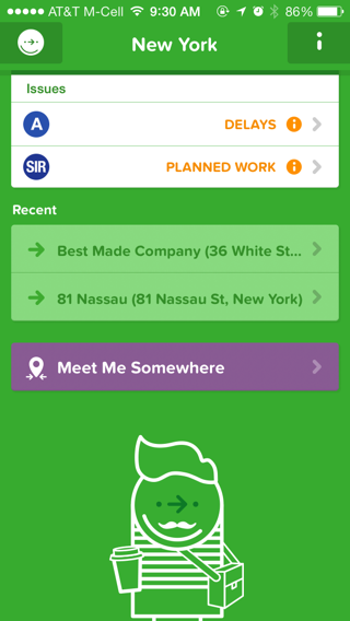 Citymapper iPhone illustration screenshot