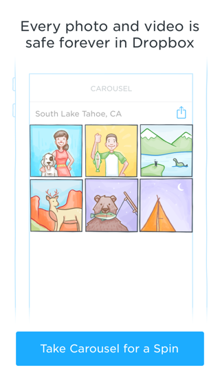 Carousel iPhone walkthroughs, sign up flows, onboarding screenshot