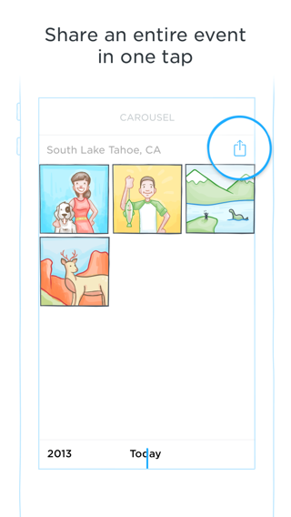 Carousel iPhone coach marks, walkthroughs, sign up flows, onboarding screenshot
