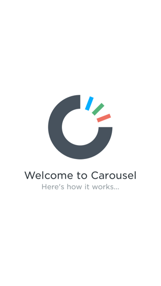 Carousel iPhone walkthroughs, sign up flows screenshot