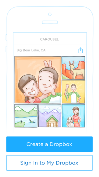 Carousel iPhone sign up flows, onboarding screenshot