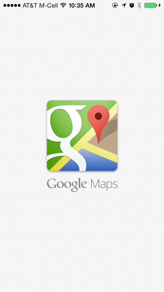 Googlemaps iPhone splash screens screenshot