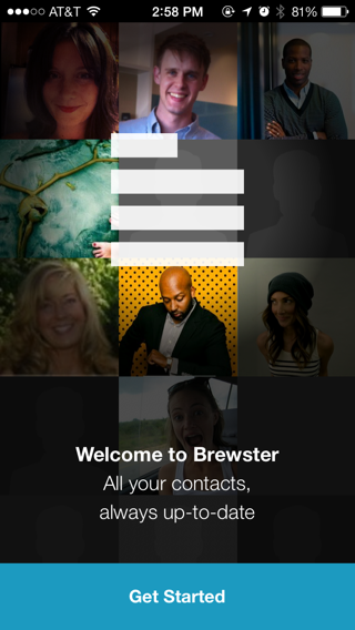 Brewster iPhone sign up flows, walkthroughs, onboarding screenshot
