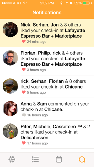Swarm iPhone notifications screenshot
