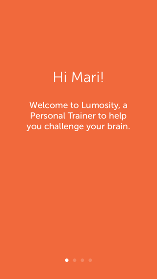 Lumosity iPhone onboarding screenshot