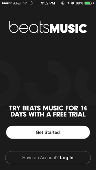 Beats iPhone sign up flows, onboarding screenshot