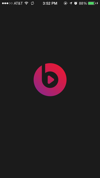 Beats iPhone splash screens screenshot