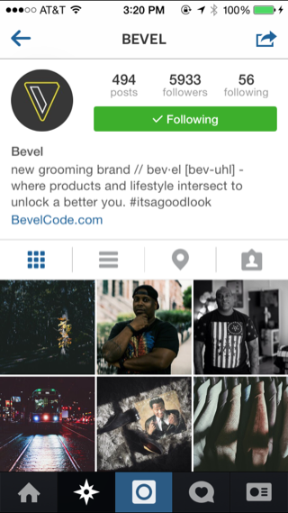 Instagram iPhone user profiles, photo gallery screenshot