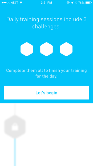 Elevate iPhone onboarding screenshot