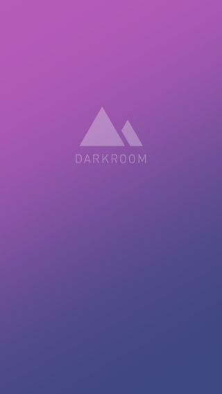 Darkroom iPhone splash screens screenshot