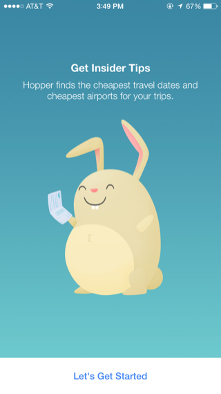 Hopper iPhone travel, booking, onboarding screenshot