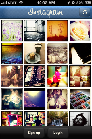 Instagram iPhone sign up flows, login flows, onboarding screenshot