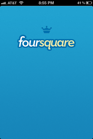 Foursquare iPhone splash screens screenshot