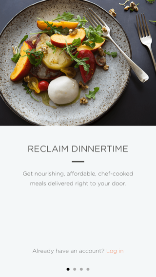 Munchery iPhone onboarding screenshot