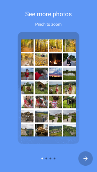 Google Photos iPhone onboarding screenshot