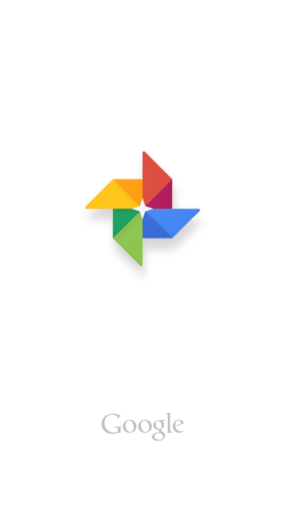 Google Photos iPhone splash screens screenshot