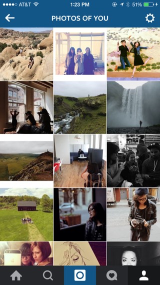 Instagram iPhone photo gallery, grid screenshot