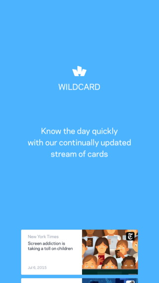 wildcard iPhone onboarding screenshot
