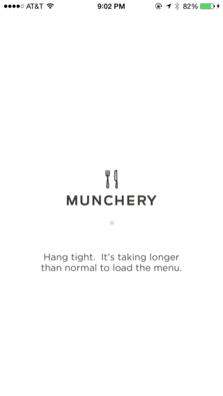 Munchery iPhone loading views screenshot