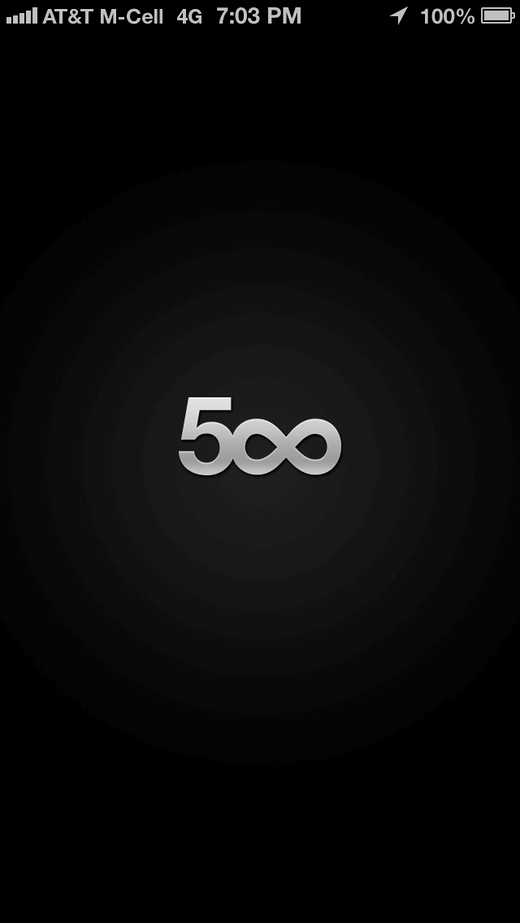 500px Iphone App Screens UI UX Design Patterns :: Mobile